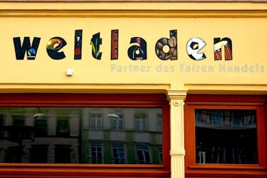 Entwurf und Wandbemalung, Weltladen Görlitz