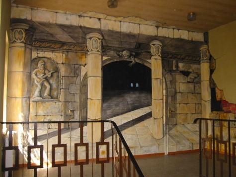 Der Musiktempel mit integrierter Tür in die ehemaligen Klubräume.